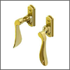 Paddle Lever Window Handles (Brass, Polished Chrome, Satin Nickel or Oil Rubbed Bronze)