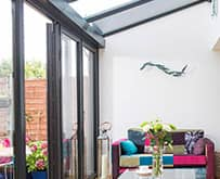 Everest black bi-fold door