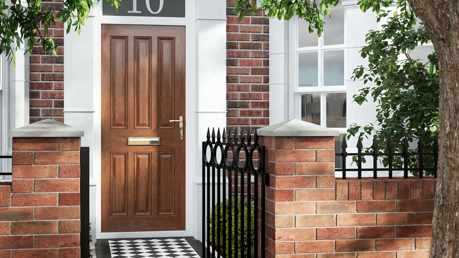 Wooden Doors | Solid Wood Timber Front Doors With Glass For Sale | Everest