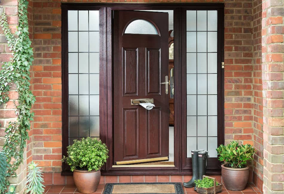 Rosewood uPVC woodgrain entrance door