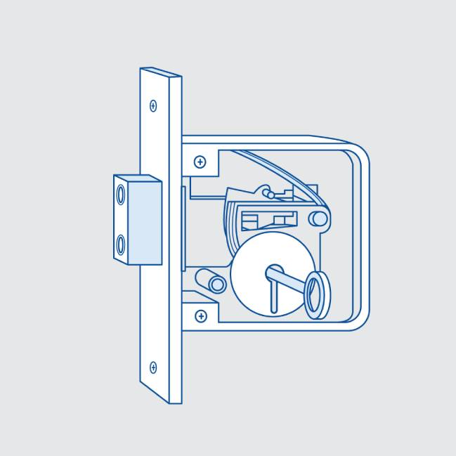 Lever lock drawing