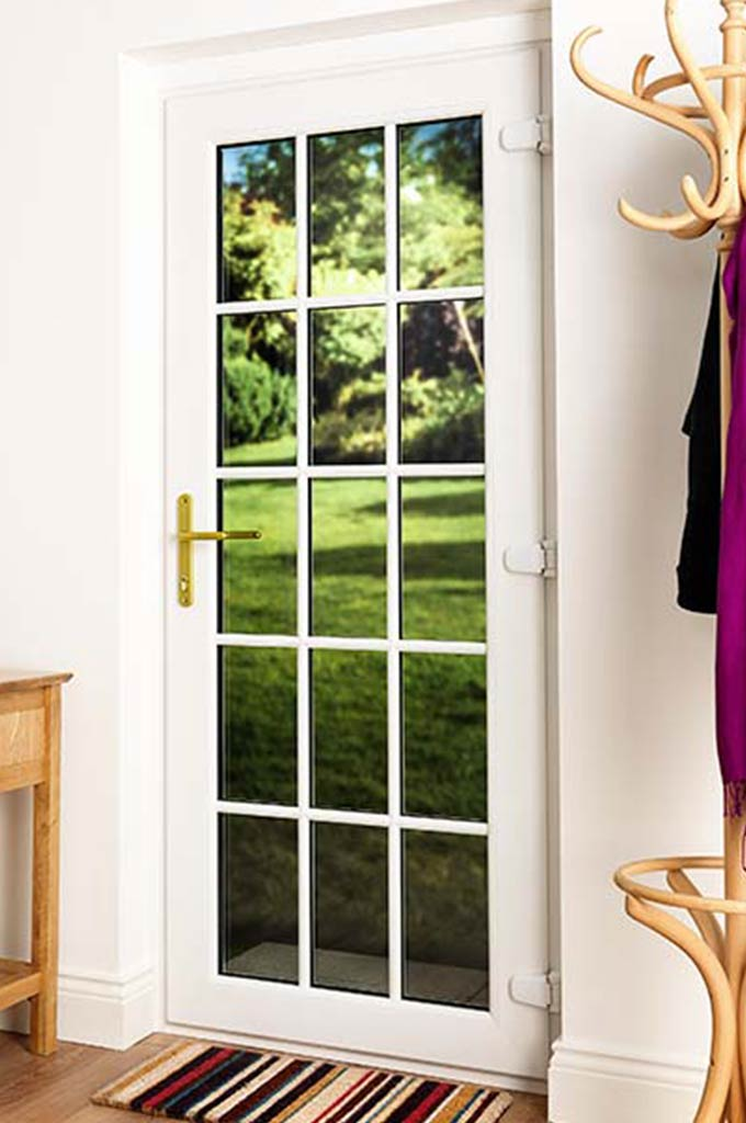 Upvc front doors with modern side panels many colours upvc for Upvc front doors fitted