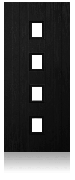 Contemporary composite entrance door - Munich design