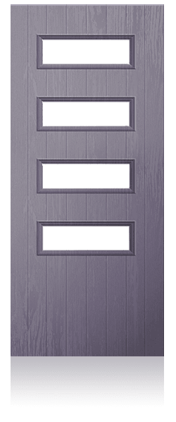Contemporary composite entrance door - Zurich design