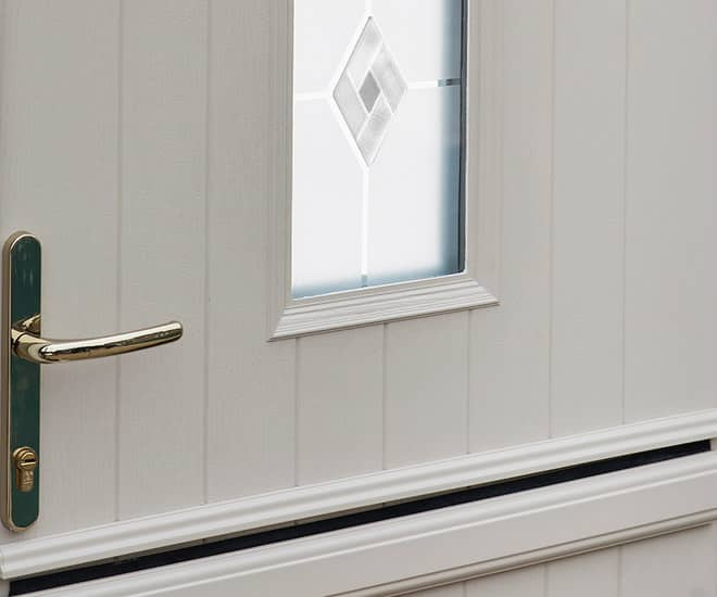 A composite stable door which carries the Secured by Design accreditation meaning it meets the highest level of security