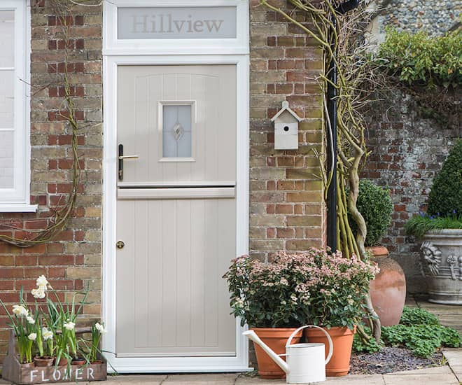 A stunning stable door from our new range, A-rated for warmth