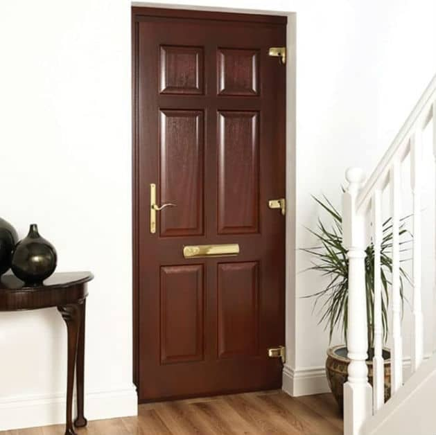 Solid Wood Timber Front Doors With Glass