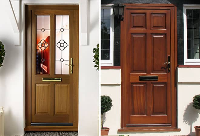 Wooden front back doors view our wooden exterior doors for Wooden exterior back doors
