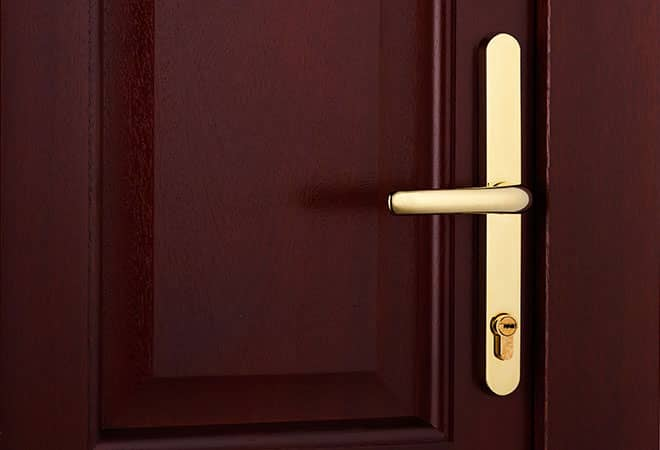 Safe and secure timber doors