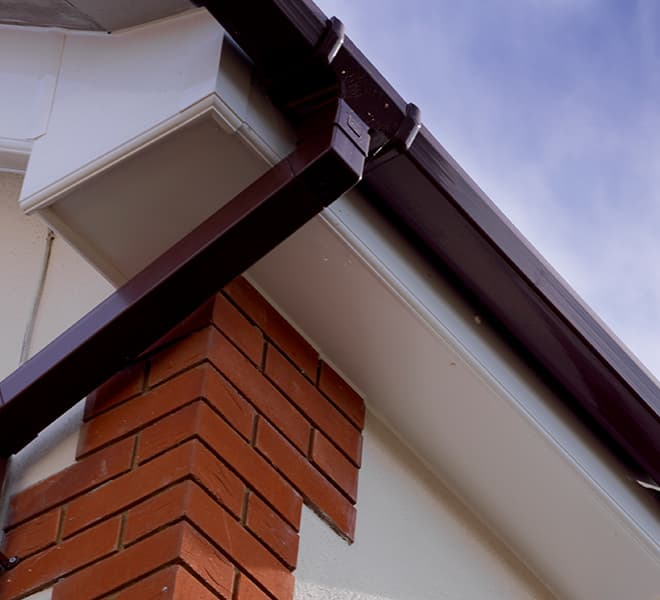 Everest roof guttering and downpipe
