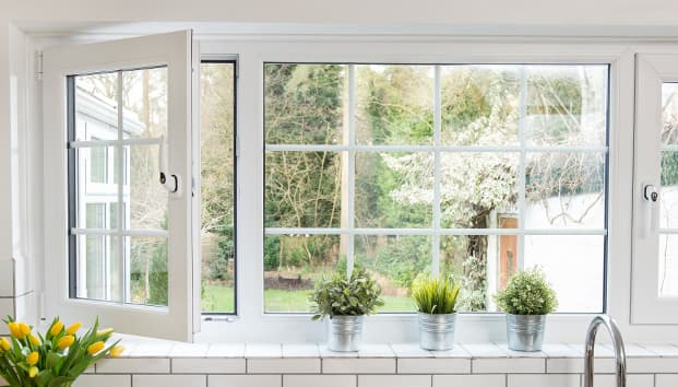 White uPVC tilt turn window