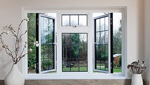 2 colour aluminium casement window