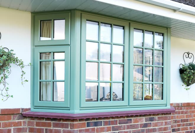Green Everest bay window which is energy efficient