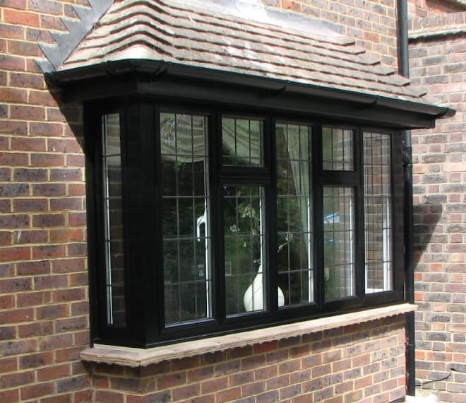 Black Everest aluminium bay window