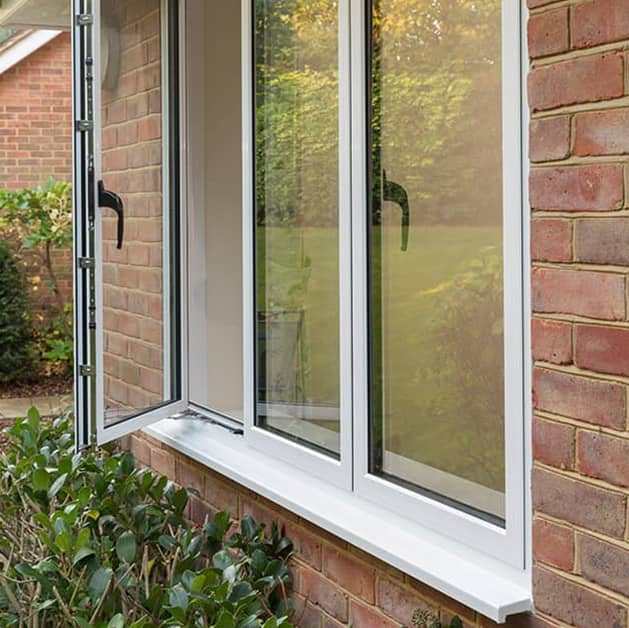 White Everest casement window