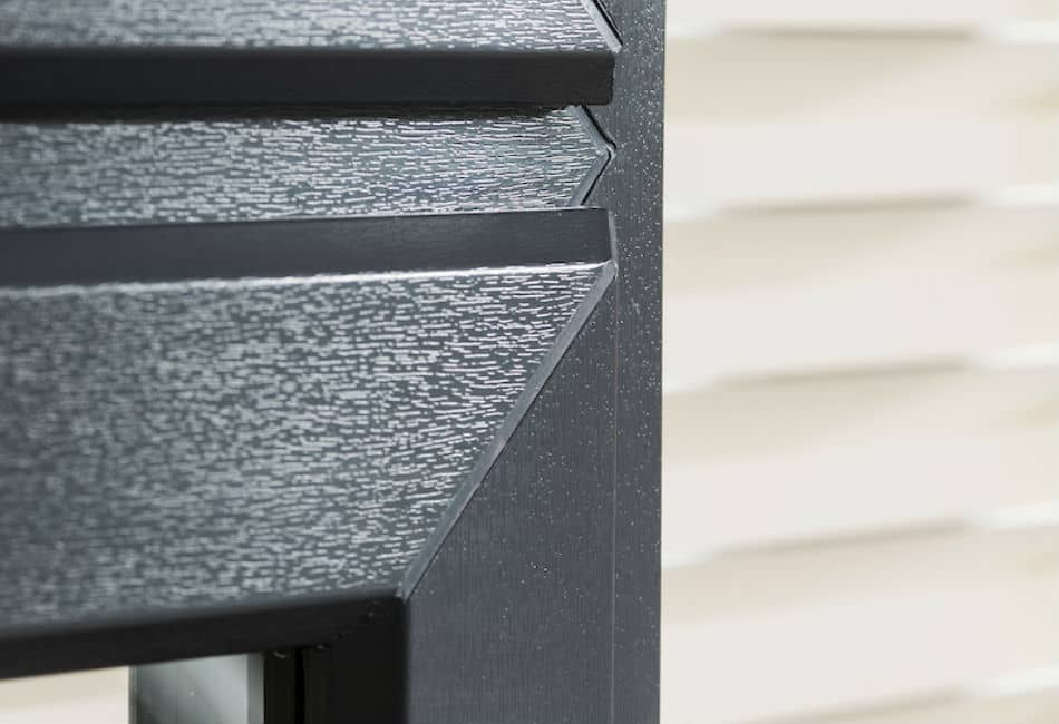 Anthracite grey uPVC woodgrain