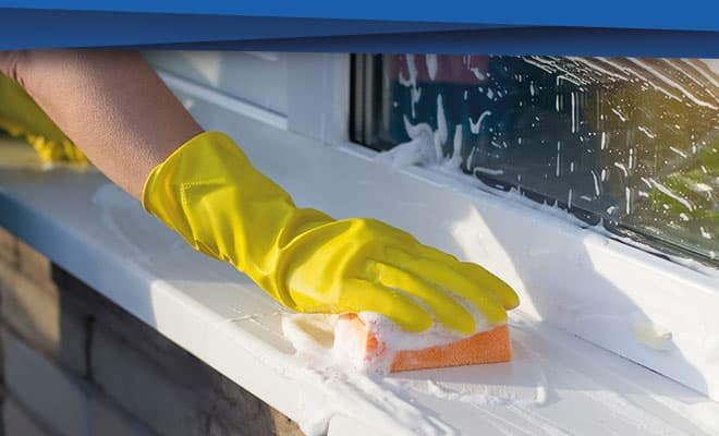 How to clean uPVC windows and doors