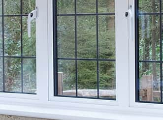 New aluminium windows with white frames