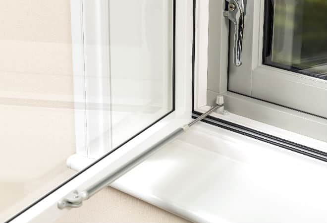 Secondary windows with two locking points for added home security