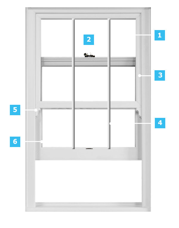 Everest timber sash window