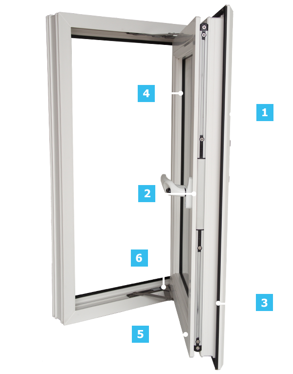 Everest uPVC casement window