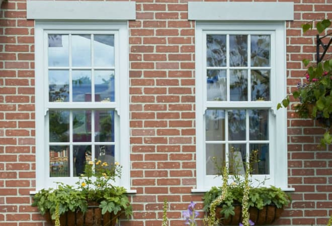 Everest uPVC sash window