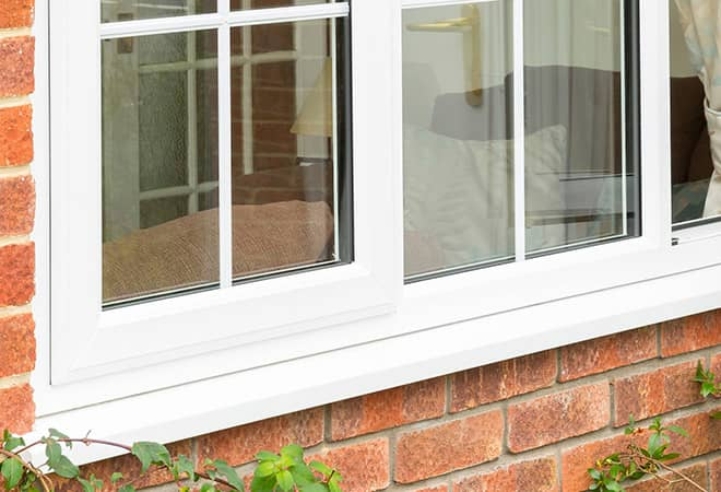 Virtually maintenance free Everest uPVC windows on the exterior of a modern home