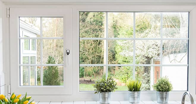 Traditional and contemporary window framing options on Everest uPVC windows