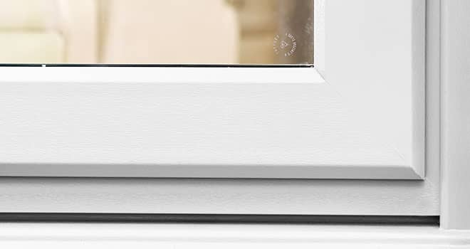 Everest Smoothweld technology on uPVC windows